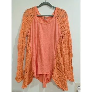 Free People Salmon Long Sleeve Tunic